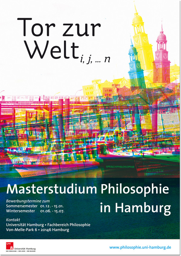 Universität Hamburg Masterstudium Philosophie Plakat